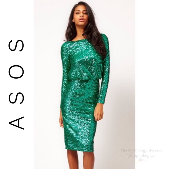 ASOS Dresses & Skirts - Asos Sequin Cowl Back Dress